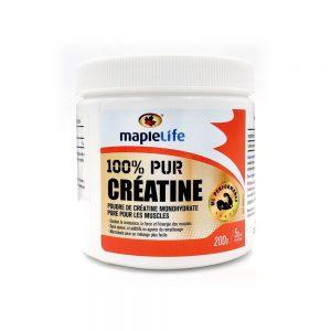 MapleLife 100% pur creatine 200g 5g par portion