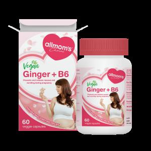 allmom's Choice Vegan Ginger + B6 60 veggie Capsules