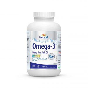 MapleLife Omega-3 Deep Sea Fish Oil 1000mg 300 softgels