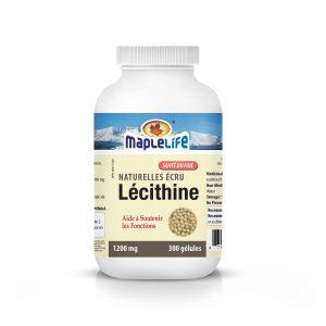 MapleLife Naturelles Ecru Lecithine 1200mg 300 gelules